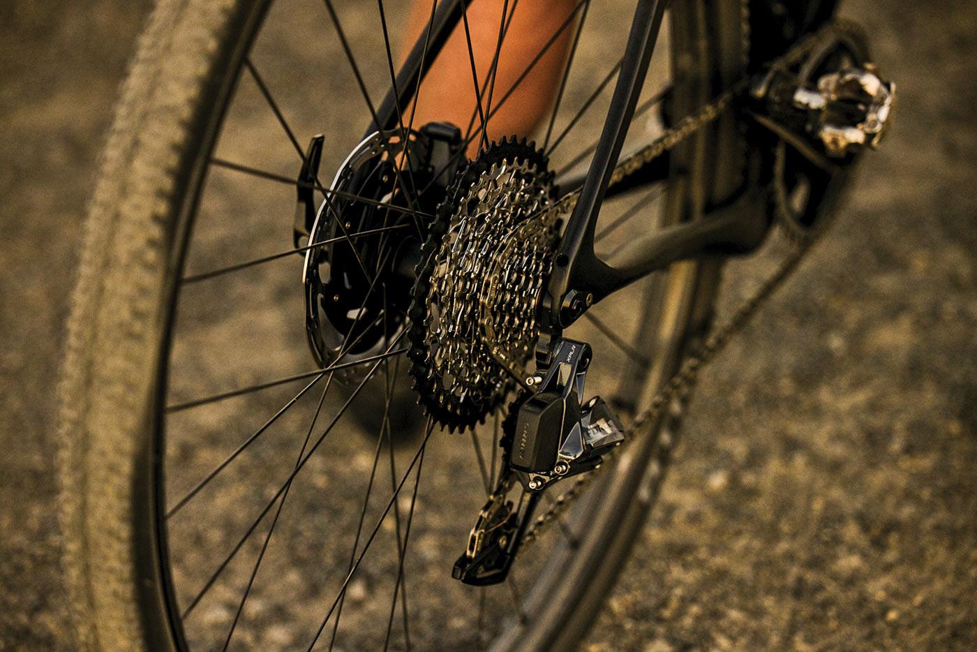 sram axs xplr gravel bike drivetrains on a bike