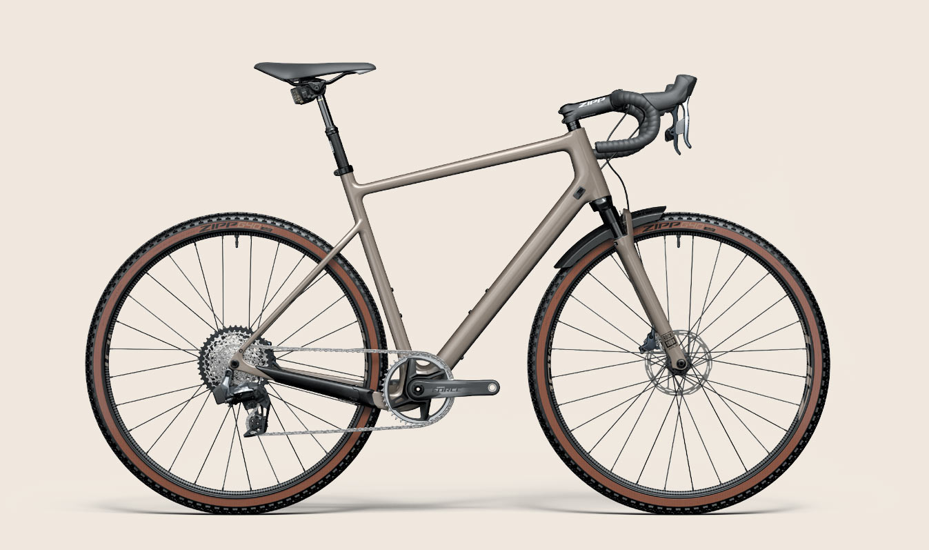 gravel bike with all of the new SRAM explore gravel bike parts on it