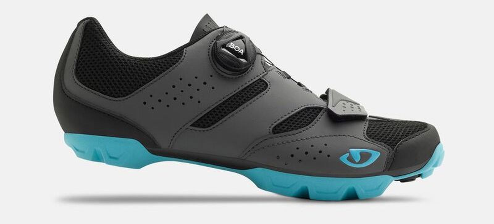 giro-cylinder-w-womens-dirt-shoe-dark-shadow-iceberg-profile best women's mtb shoes