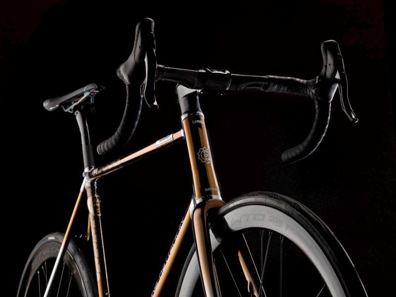 2021 Battaglin Portofino Edizione Anniversario road bike, handmade Italian modern lugged steel road bike with full internal routing,no cables
