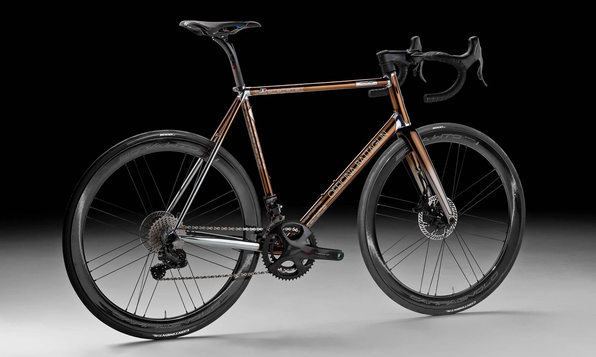 2021 Battaglin Portofino Edizione Anniversario road bike, handmade Italian modern lugged steel road bike with full internal routing,complete