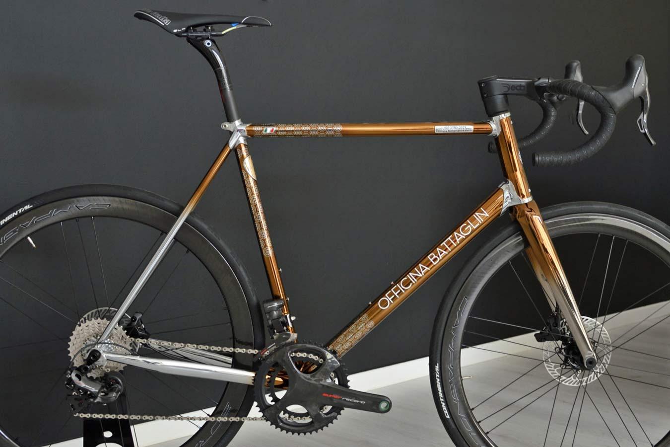 2021 Battaglin Portofino Edizione Anniversario road bike, handmade Italian modern lugged steel road bike with full internal routing,frameset