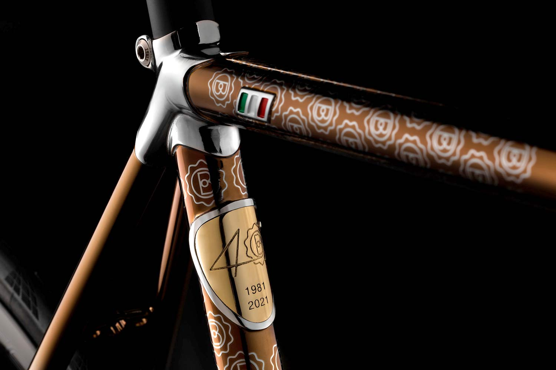 2021 Battaglin Portofino Edizione Anniversario road bike, handmade Italian modern lugged steel road bike with full internal routing,diamond