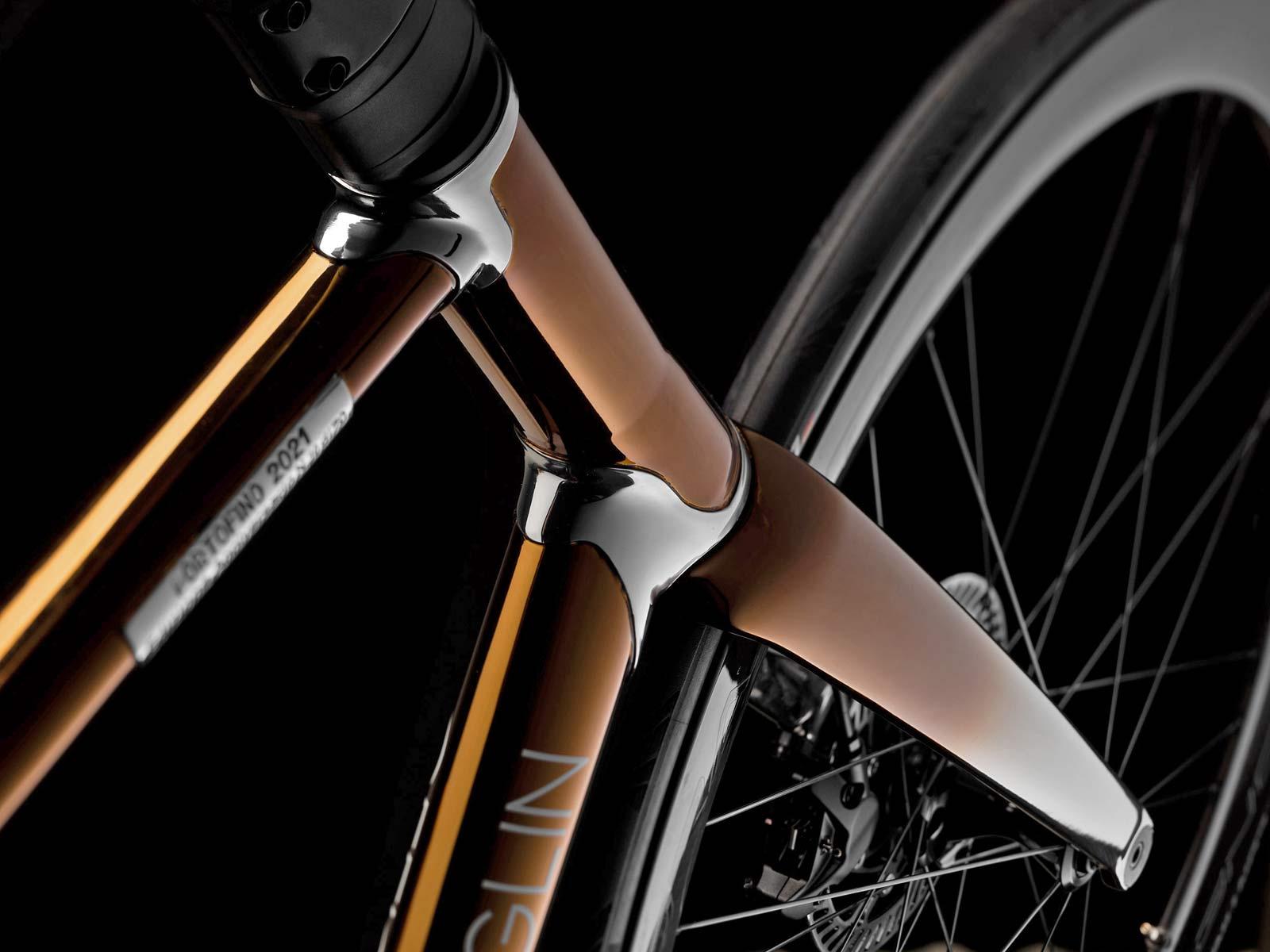 2021 Battaglin Portofino Edizione Anniversario road bike, handmade Italian modern lugged steel road bike with full internal routing,headtube