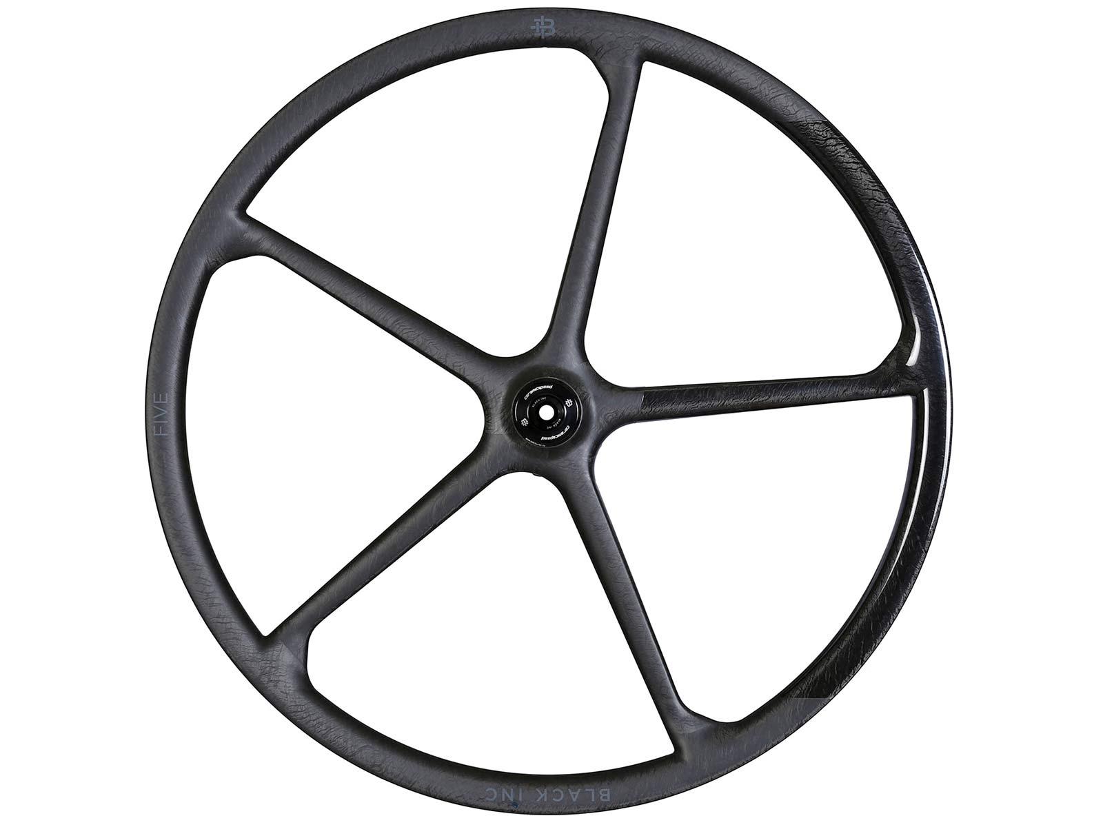Black Inc FIVE aero carbon 5-spoke tubeless disc brake road bike wheels,side