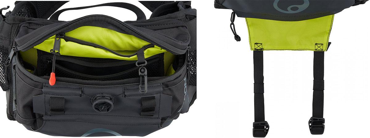 ergon ba hip pack pockets underside straps carry knee pads