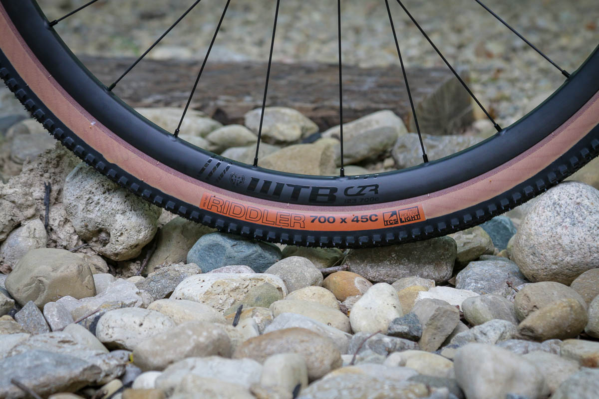 WTB CZR carbon wheels with Riddler tires