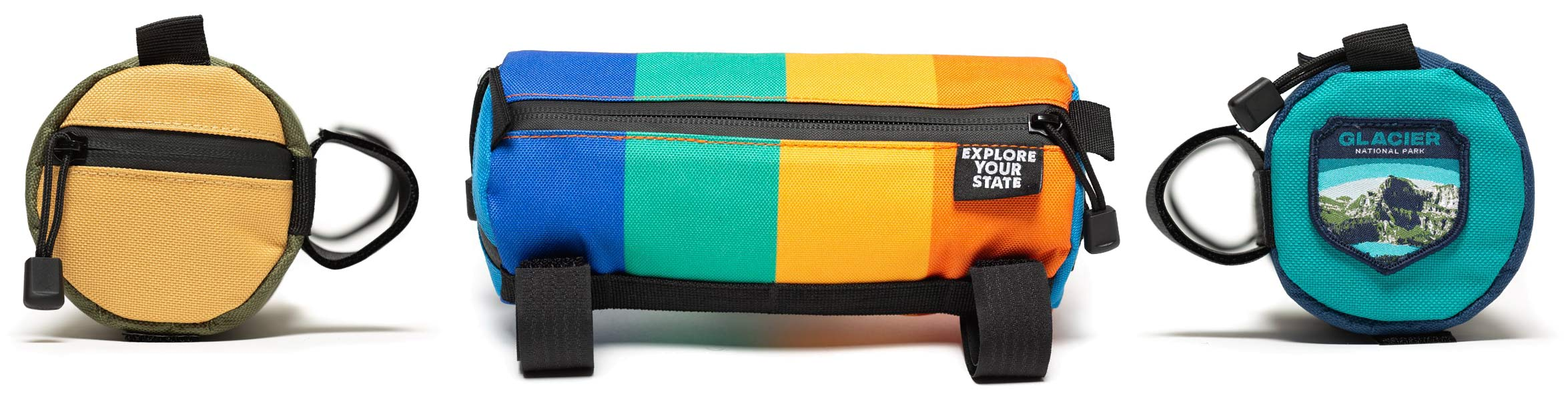 State X NPF collection, State Bicycle x National Park Foundation limited-edition bikes & gear,handlebar bag details