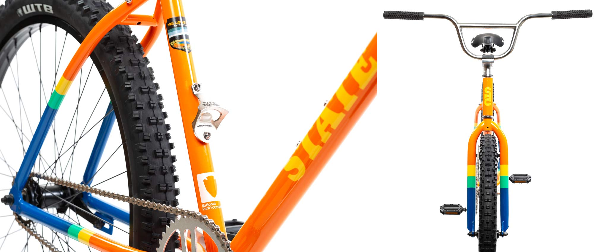 State X NPF collection, State Bicycle x National Park Foundation limited-edition bikes & gear,Klunker details