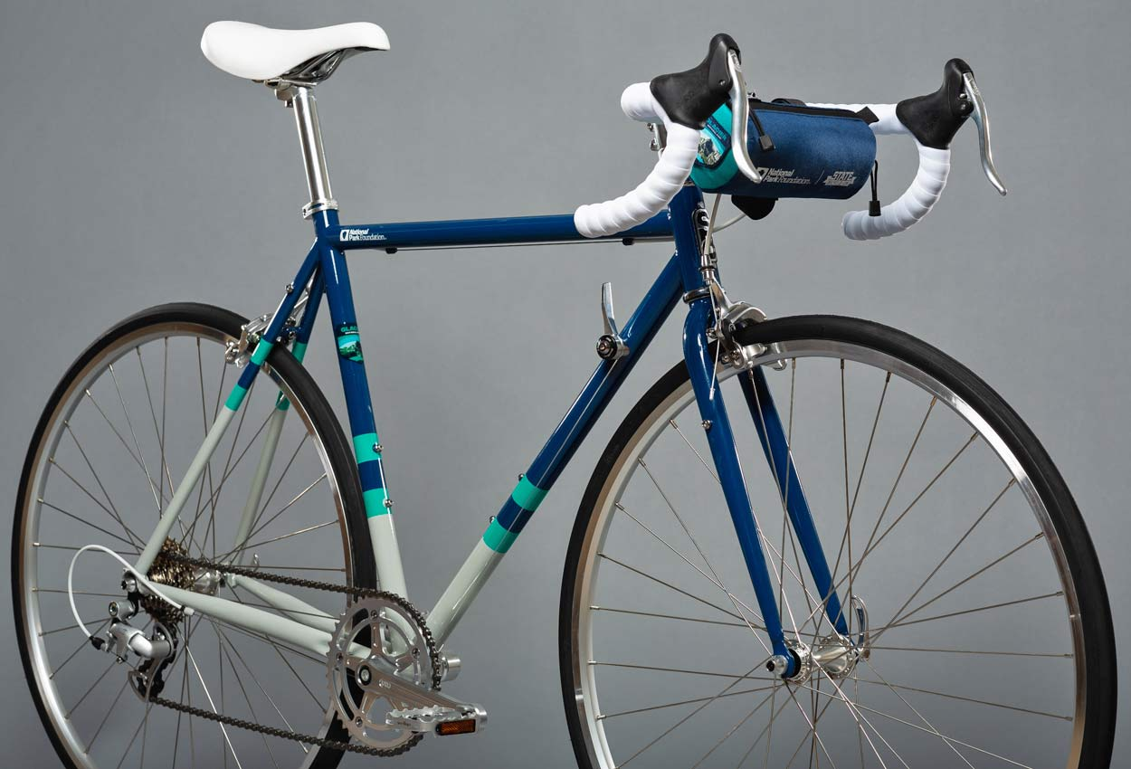 State X NPF collection, State Bicycle x National Park Foundation limited-edition bikes & gear,Glacier 4130 Road bike detail