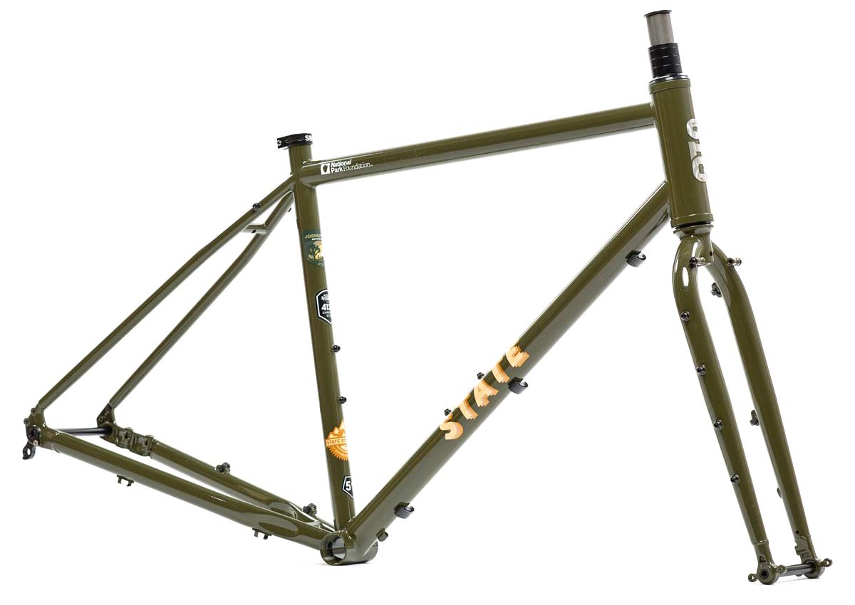 State X NPF collection, State Bicycle x National Park Foundation limited-edition bikes & gear,Joshua Tree 4130 All-Road frameset
