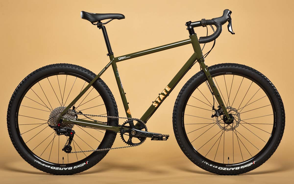 State X NPF collection, State Bicycle x National Park Foundation limited-edition bikes & gear,Joshua Tree 4130 All-Road bike complete