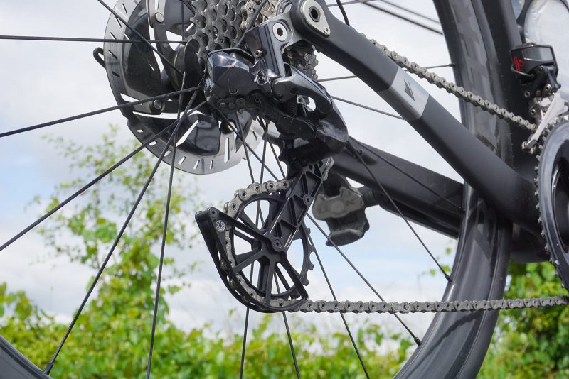 riding action photo for the kogel kolossus oversized ceramic bearing pulley review