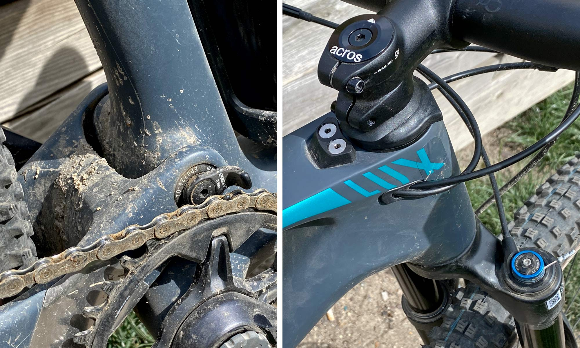 Canyon Lux Trail, a slightly longer travel downcountry XC marathon light trail mountain bike review, protection details