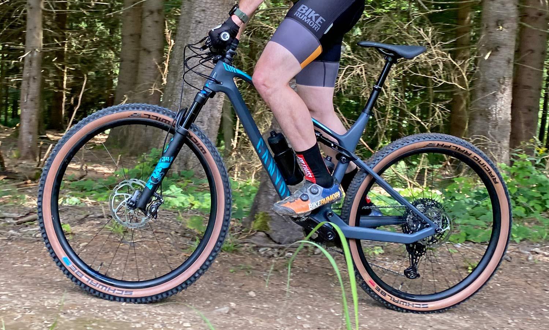 Canyon Lux Trail, a slightly longer travel downcountry XC marathon light trail mountain bike review, non-driveside
