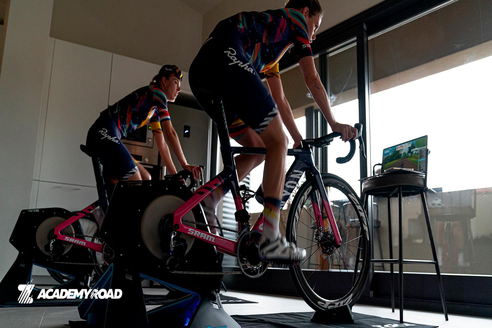 Zwift Academy riders in SRAM gear