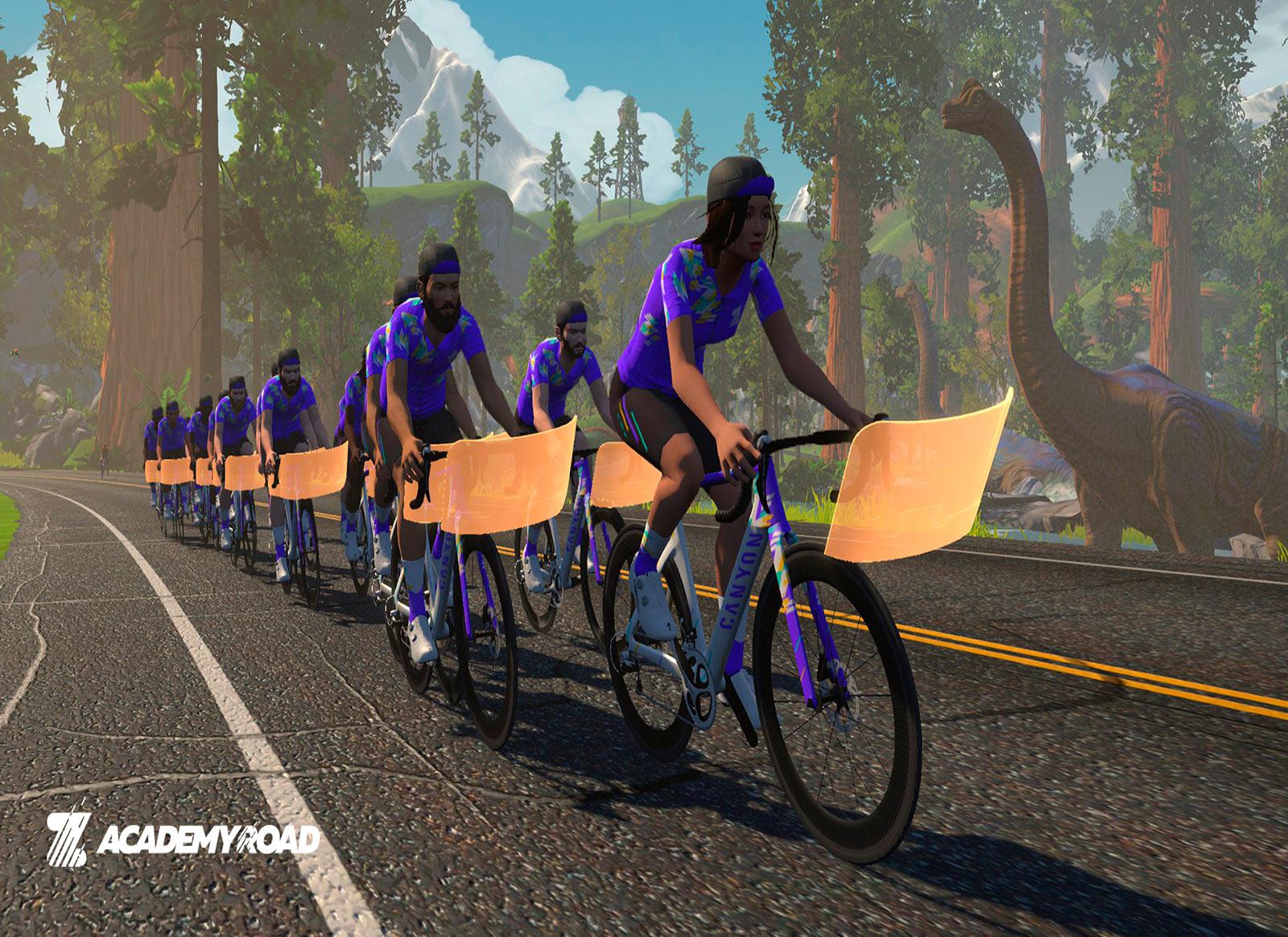 Zwift Academy virtual world ride