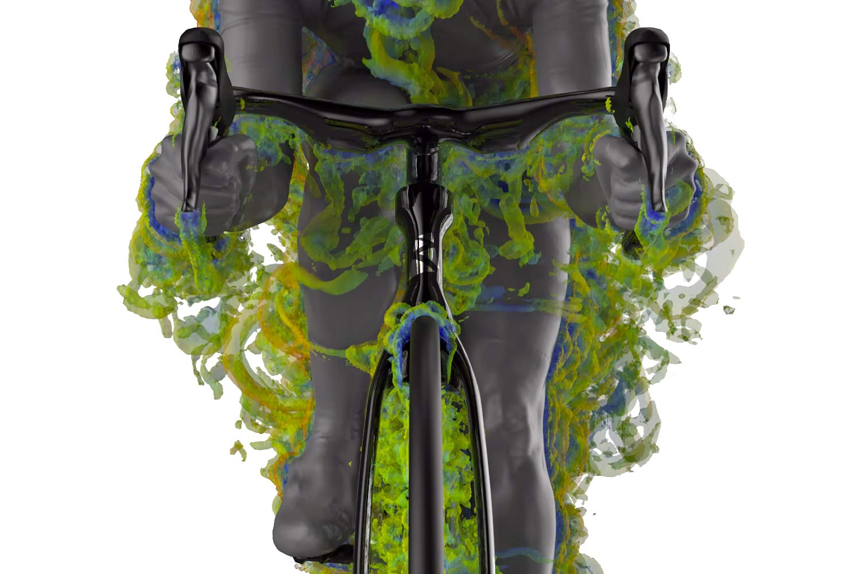 Ribble Ultra SL road, uniquely integrated aero road bike with curvy ergonomic Ultra Bar cockpit,CFD