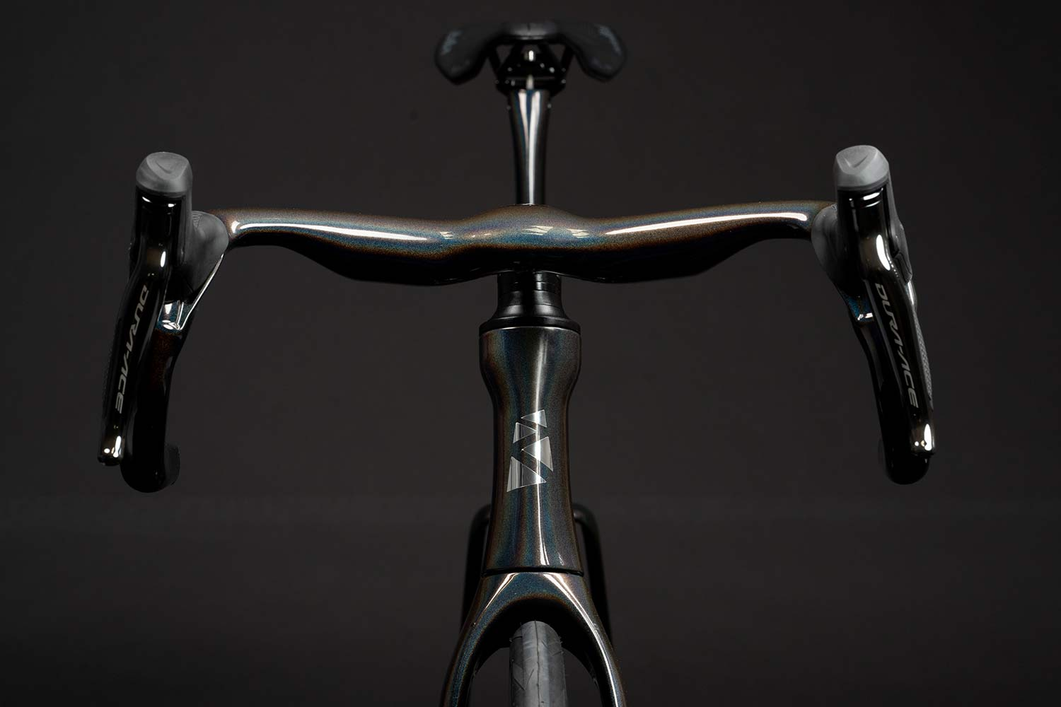 Ribble Ultra SL road, uniquely integrated aero road bike with curvy ergonomic Ultra Bar cockpit,front end