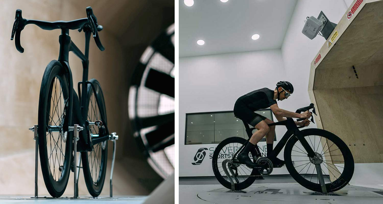 Ribble Ultra SL road, uniquely integrated aero road bike with curvy ergonomic Ultra Bar cockpit,wind tunnel