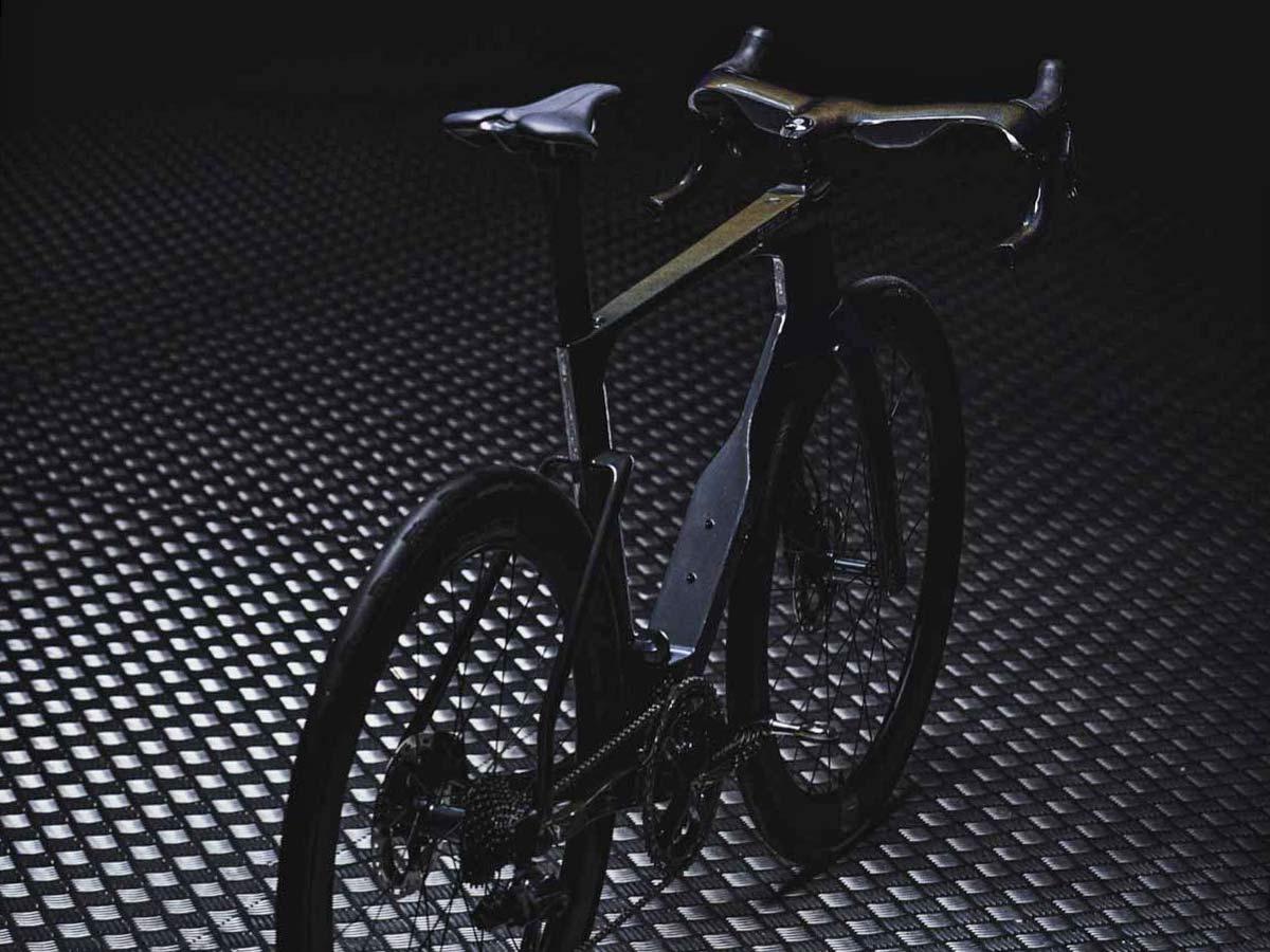 Ribble Ultra SL road, uniquely integrated aero road bike with curvy ergonomic Ultra Bar cockpit,angled