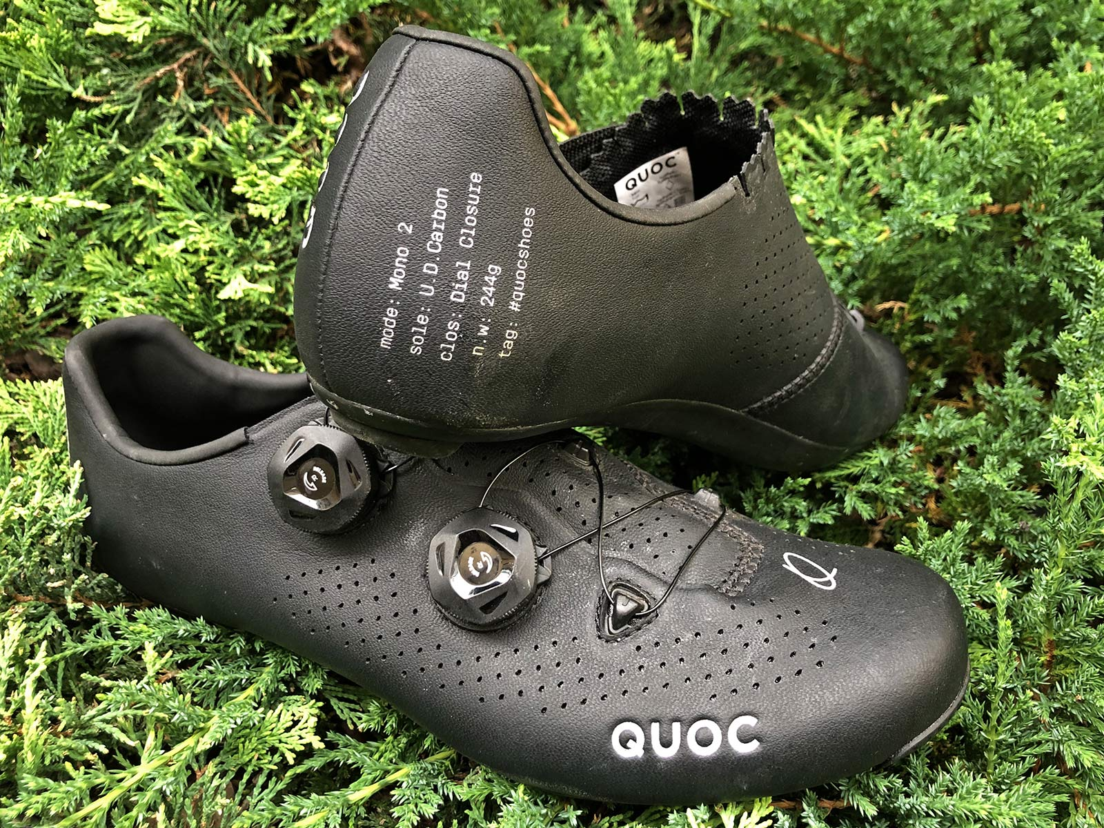 Quoc Mono II lightweight carbon-soled road cycling shoes Review,pair