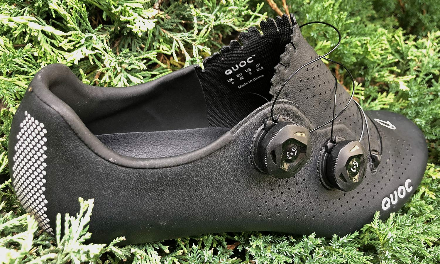 Quoc Mono II lightweight carbon-soled road cycling shoes Review,heel padding