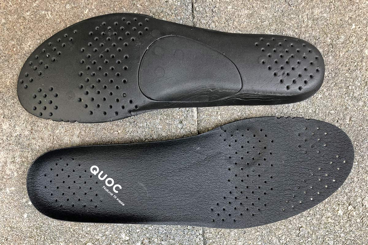 Quoc Mono II lightweight carbon-soled road cycling shoes Review,insole