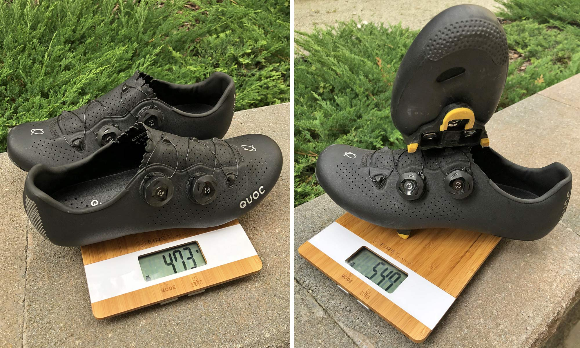 Quoc Mono II lightweight carbon-soled road cycling shoes Review,237g actual weight
