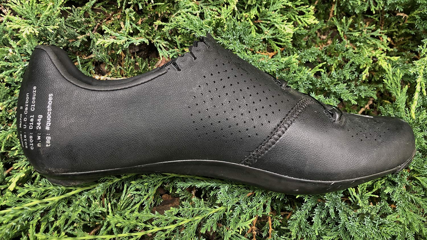 Quoc Mono II lightweight carbon-soled road cycling shoes Review,simple inside