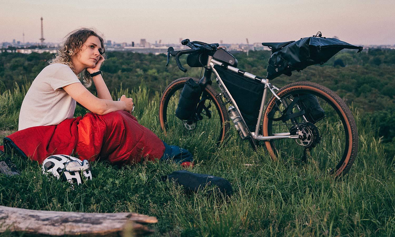 8bar Tflsberg steel off-road adventure bikepacking mountain bike, photo by Stefan Haehnel,camping