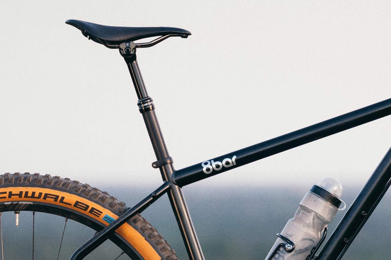 8bar Tflsberg steel off-road adventure bikepacking mountain bike, photo by Stefan Haehnel,dropper post