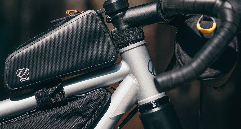 8bar Tflsberg steel off-road adventure bikepacking mountain bike, photo by Stefan Haehnel,headtube downtube gusset