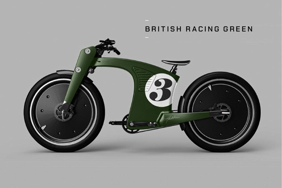 crowncruiser ebike british racing green