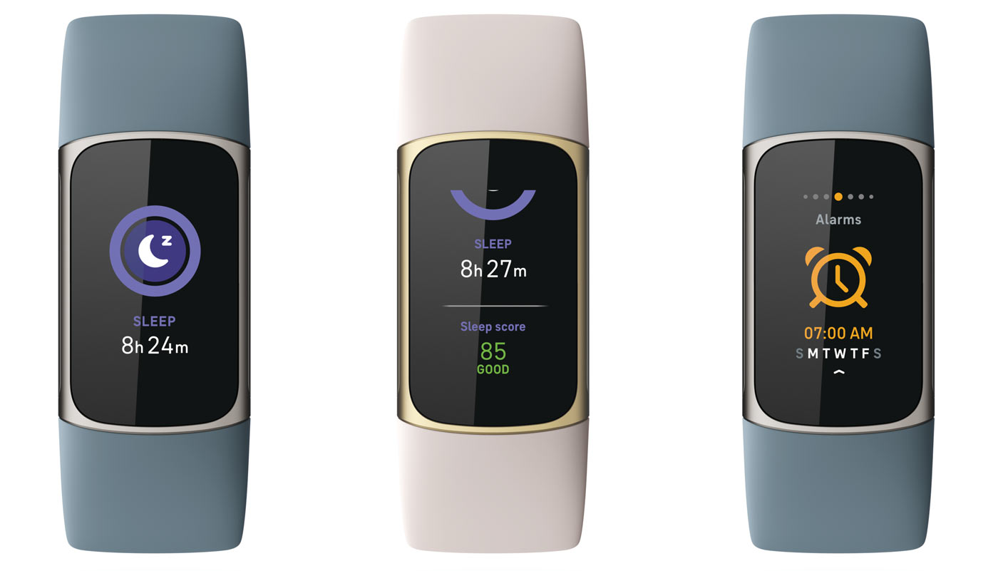 sleep scores and data on the fitbit charge 5 smartwatch fitness tracker