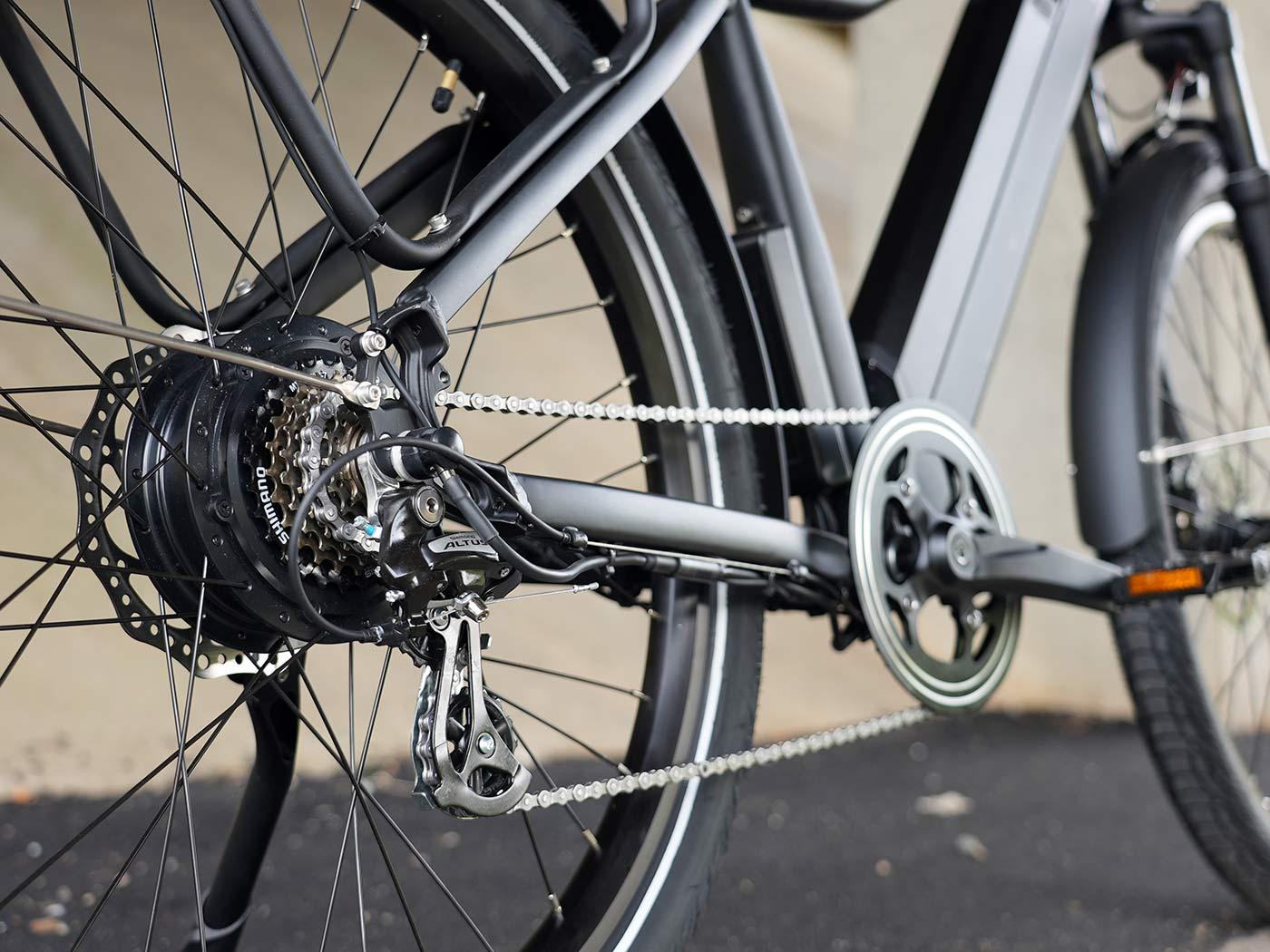 kbo breeze commuter e-bike drivetrain