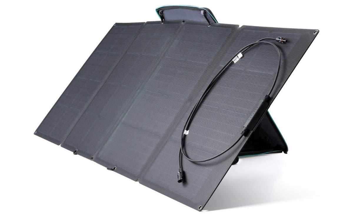 ecoflow 160w solar panels for camper van battery recharging and off grid power supplies