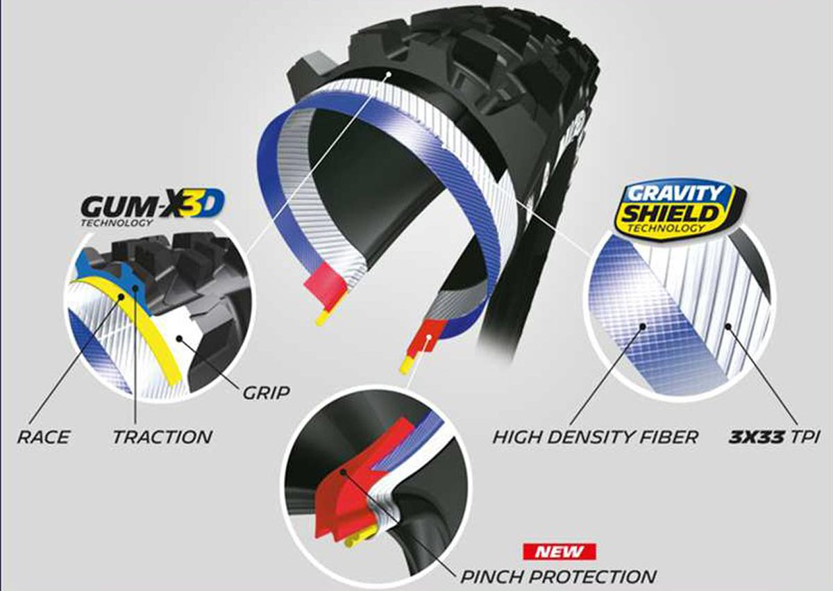 michelin wild enduro mtb tyres competition line casing construction