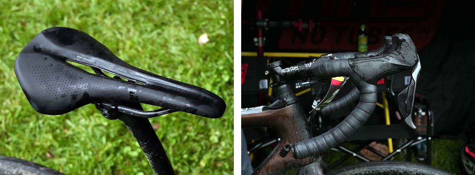 cockpit details of CLIF Pro Team gravel race bike for russell finsterwald