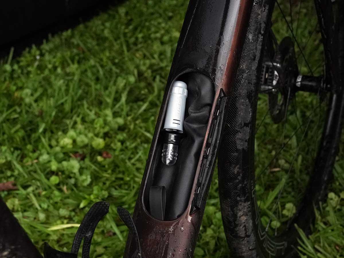 closeup details of CLIF Pro Team gravel race bike for russell finsterwald