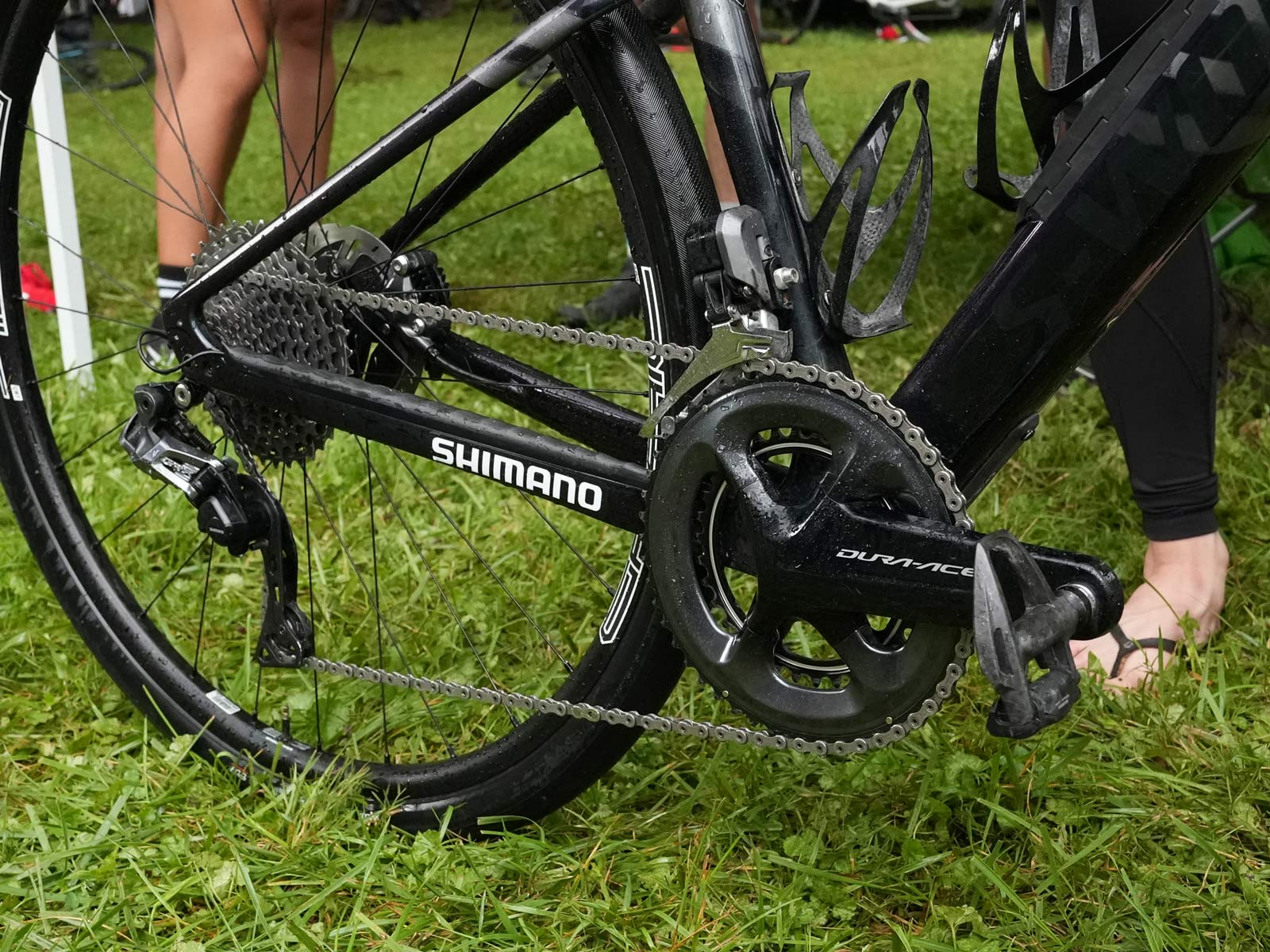 drivetrain of CLIF Pro Team gravel race bike for sofia gomez villafane