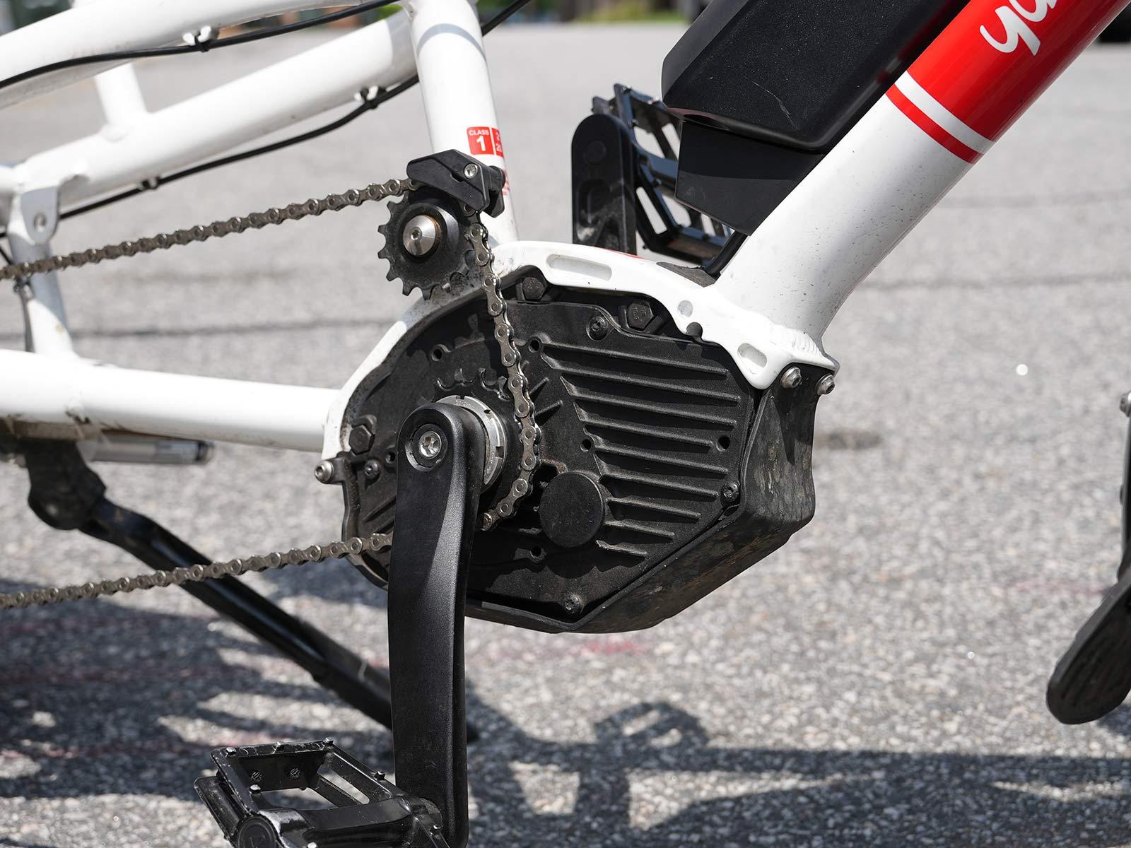 smaller undersized chainring on an e-bike