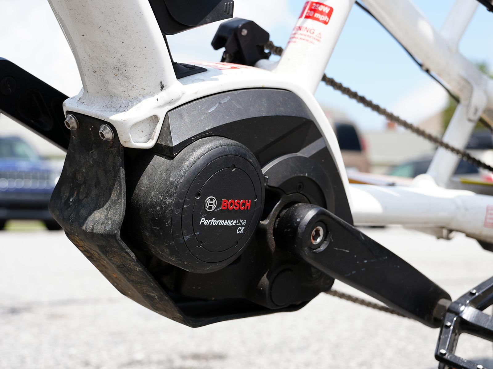 bosch e-bike motor on a cargo bike