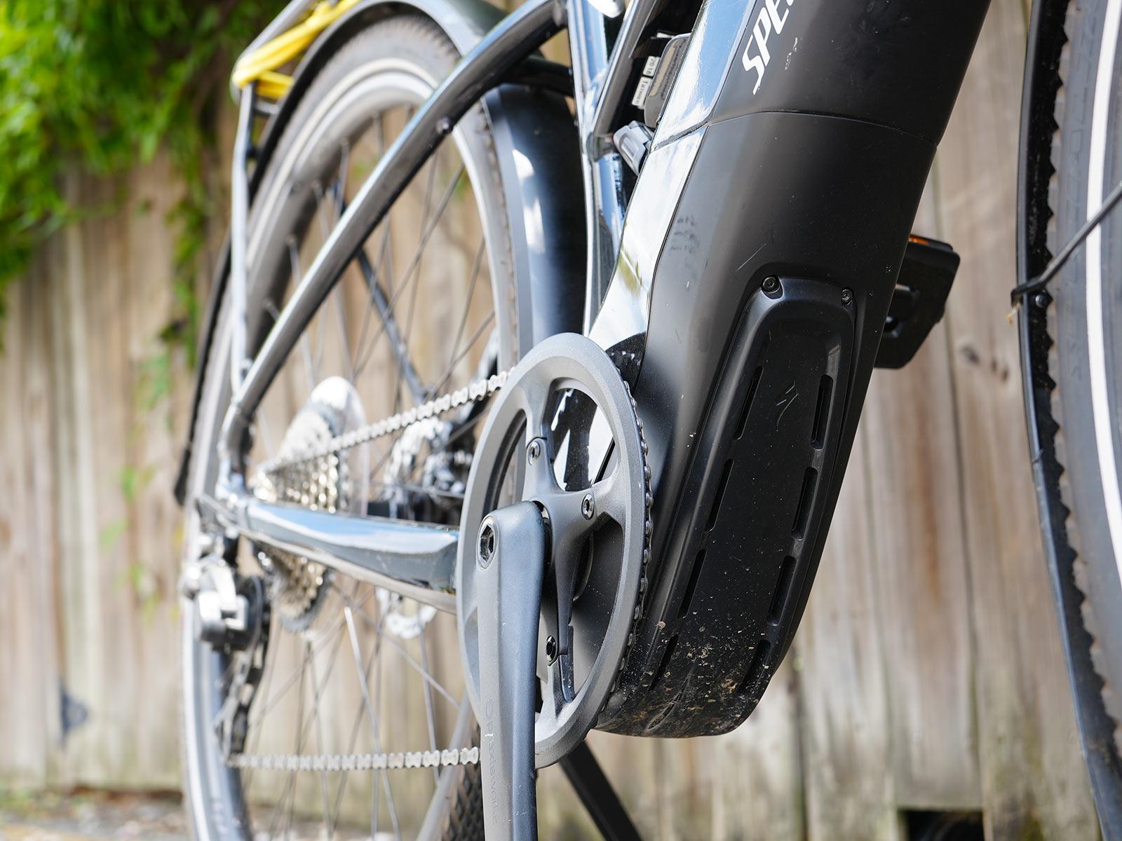 specialized e-bike motor closeup