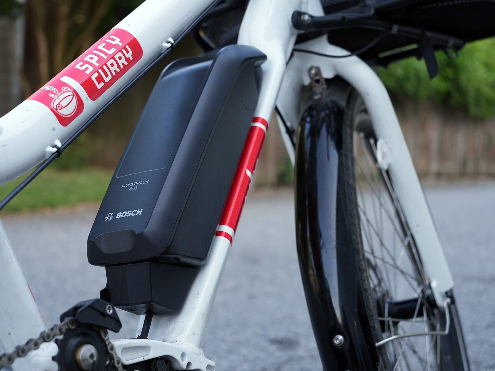 e-bike battery closeup