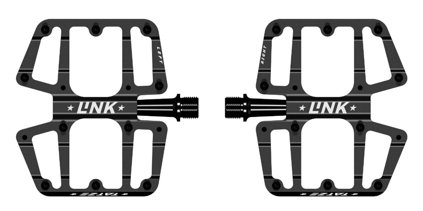 tatze link flat pedal mtb 99mm x 113mm ultra thin concave platform 10 pins optional additional 4
