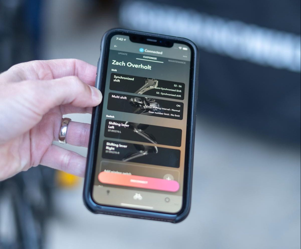 Shimano e-Tube 4.0 app