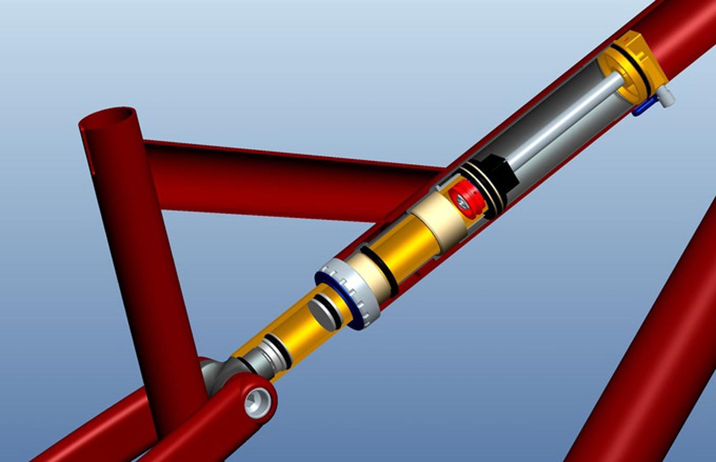 "digit datum integer strut layout 12"" shock top tube integrated"