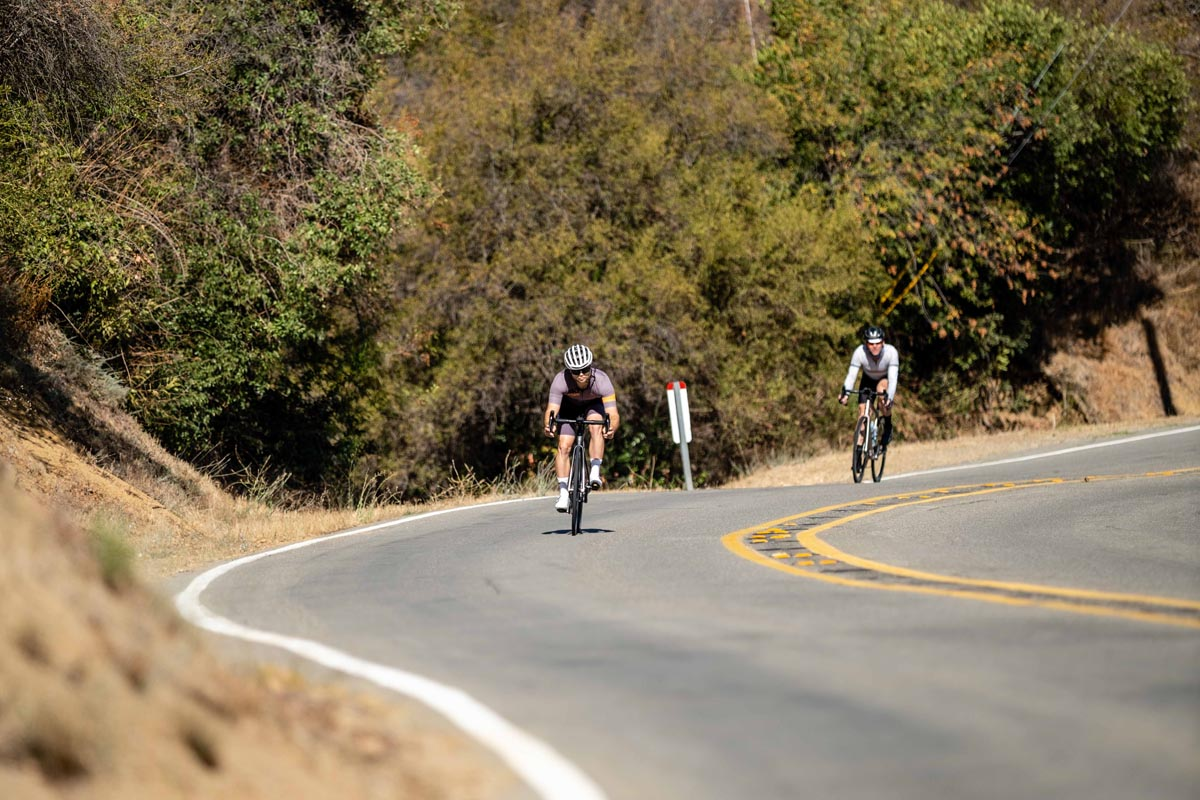 Descending on Specialized Aethos in California