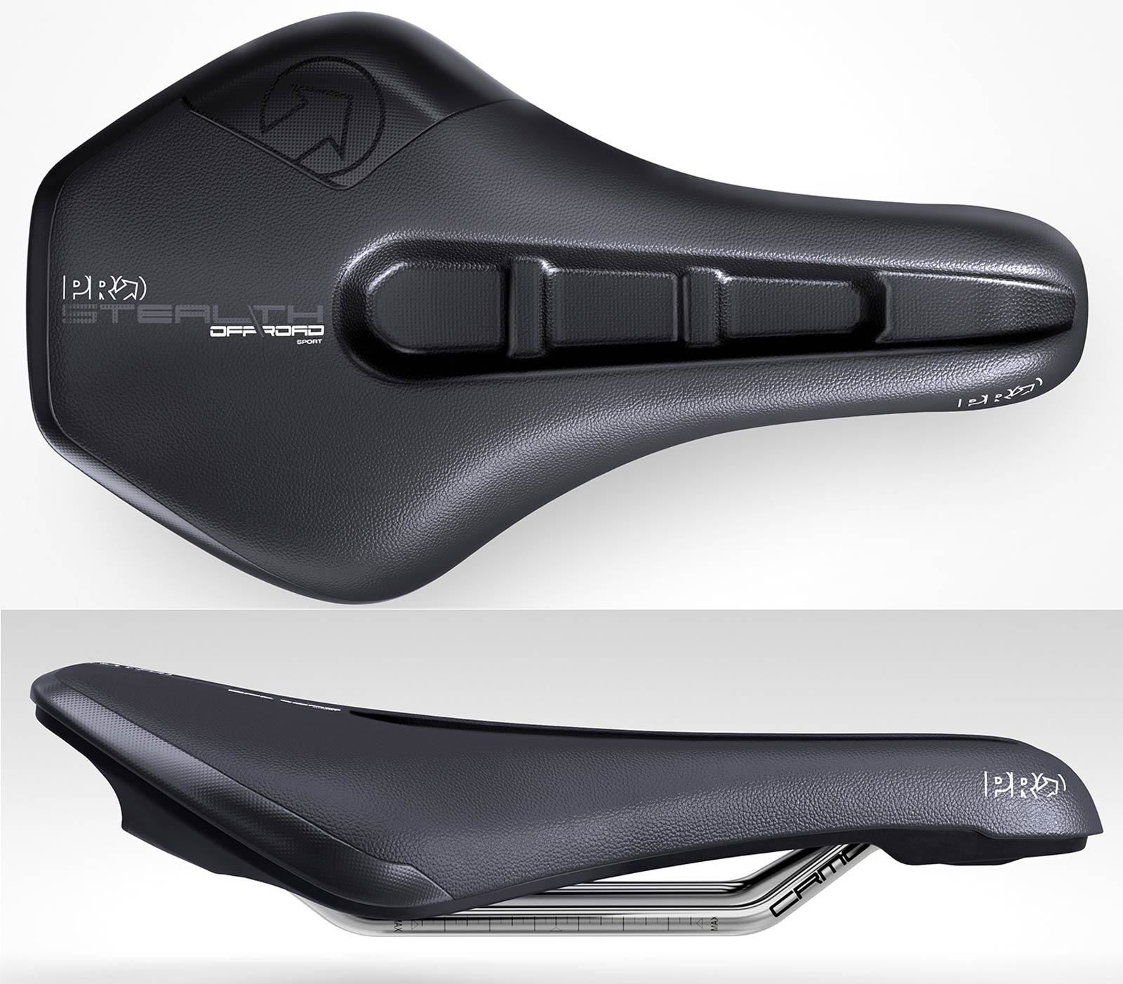 pro stealth off-road sport saddle top side view